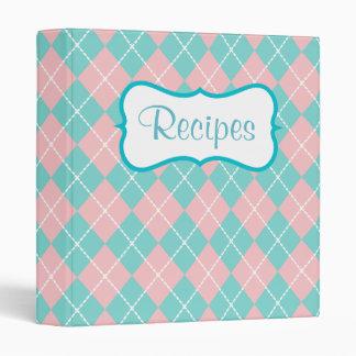 Retro Pink and Turquoise Recipe Binder