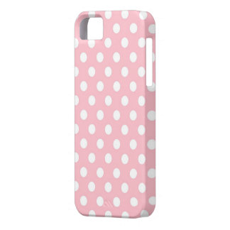 Retro Pink and White Polka Dots iPhone 5s Case