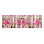 Retro Pink Antique Floral Pattern Vintage Wood Double-Sided Mini Business Cards (Pack Of 20)