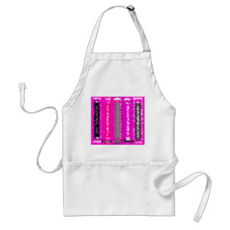 Retro pink black psychedelic rectangles adult apron