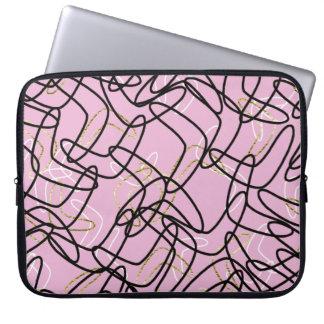 retro pink boomerang laptop sleeve