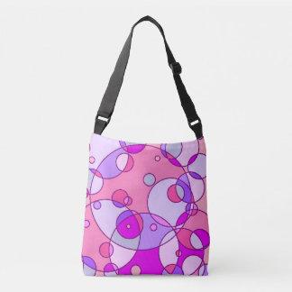 Retro Pink Bubble Messenger Bag