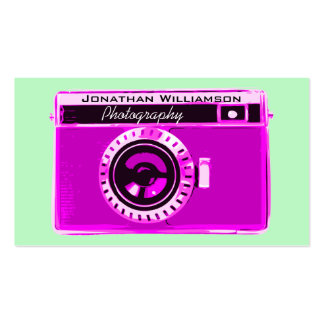 Retro Pink Camera Photography Business Cards Business Card
