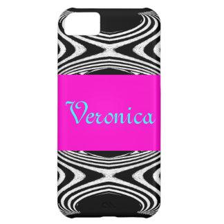 Retro Pink Chevron Zig Zag of Zebra Girly Stripes iPhone 5C Cover