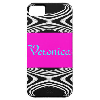 Retro Pink Chevron Zig Zag of Zebra Girly Stripes iPhone SE/5/5s Case