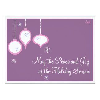 "Retro Pink Christmas Cards 6.5"" X 8.75"" Invitation Card"