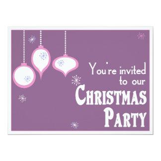 "Retro Pink Christmas Invitations 6.5"" X 8.75"" Invitation Card"