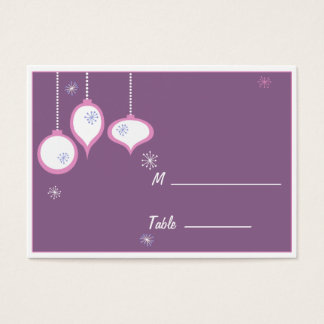 Retro Pink Christmas Placecards Business Card