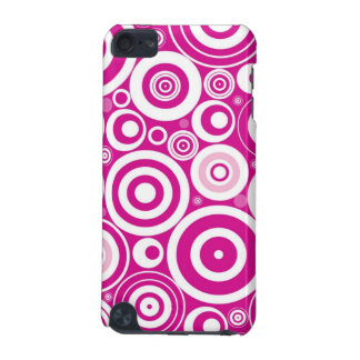 Retro Pink Circles iPod Touch Case