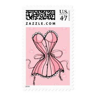 Retro Pink Corset Postage
