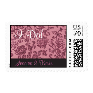 Retro Pink Damask Stamp