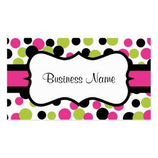 Retro Pink Dots Business Card