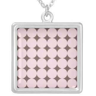 Retro Pink Dotty Necklace