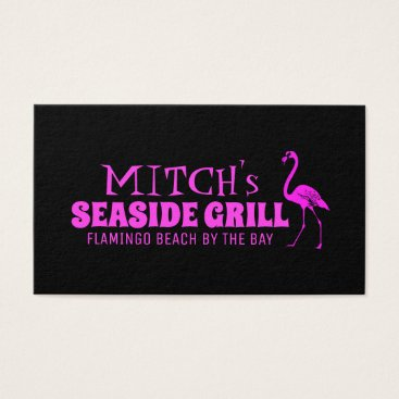 Professional Business Retro Pink Flamingo Business Card
