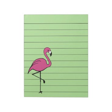 Beach Themed Retro Pink Flamingo To Do List Notepad Gift