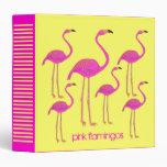 Retro Pink Flamingos Binder