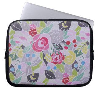 Retro Pink Flowers Springtime Laptop case Computer Sleeve