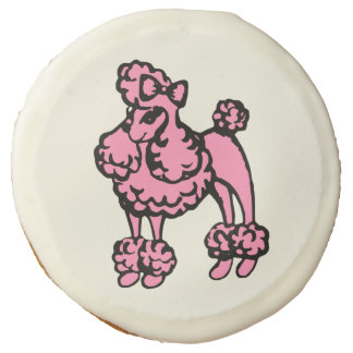 Retro Pink French Poodle Party Cookies