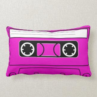Retro Pink Fushia Cassette tape throw pillow 80s