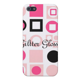 Retro Pink, Giltter Glossip(Elle styled) Case For iPhone SE/5/5s