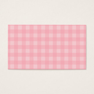 Retro Pink Gingham Checkered Pattern Background Business Card