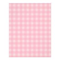 Retro Pink Gingham Checkered Pattern Background Flyer