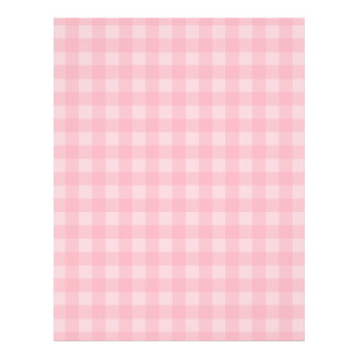 Retro Pink Gingham Checkered Pattern Background Flyer