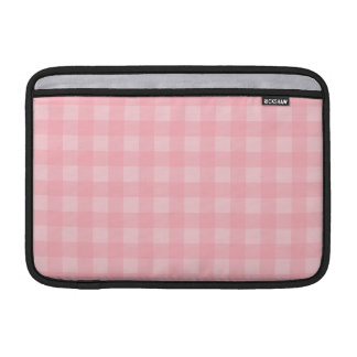 Retro Pink Gingham Checkered Pattern Background MacBook Sleeve