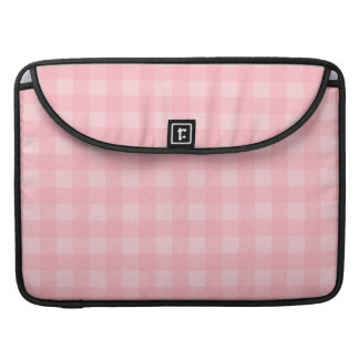Retro Pink Gingham Checkered Pattern Background MacBook Pro Sleeves