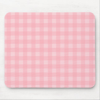 Retro Pink Gingham Checkered Pattern Background Mouse Pad
