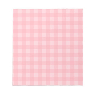 Retro Pink Gingham Checkered Pattern Background Notepad
