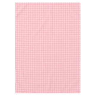 Retro Pink Gingham Checkered Pattern Background Tablecloth