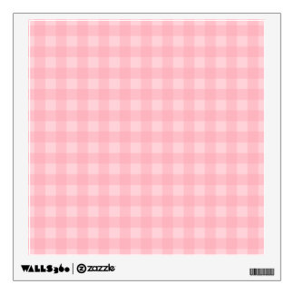 Retro Pink Gingham Checkered Pattern Background Wall Graphics