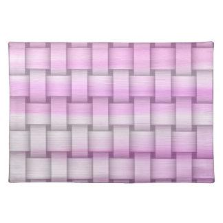 Retro pink graphic design placemat