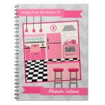 Retro Pink Kitchen & Zig Zag Recipe Notebook