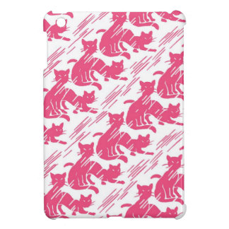 Retro Pink Kitties iPad Mini Case