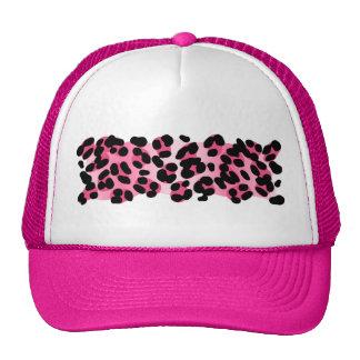 Retro Pink Leopard Print Trucker Hat