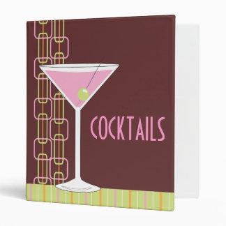 Retro Pink Martini Cocktail Binder
