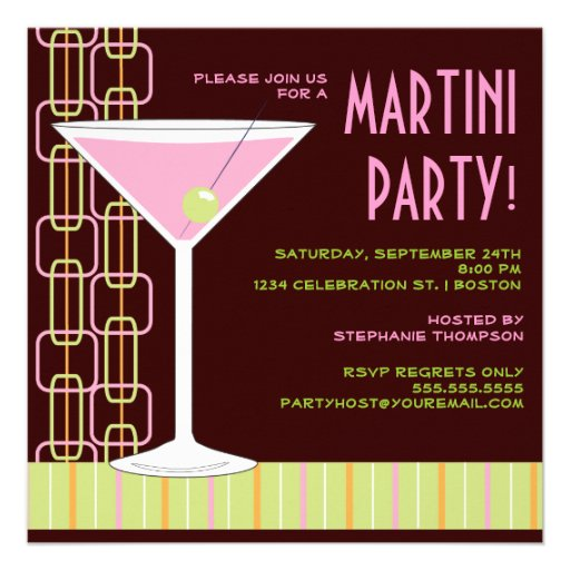 Cocktail Birthday Invitations with nice invitations sample