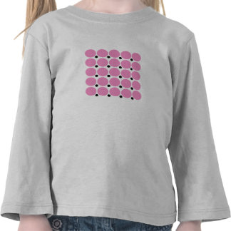 Retro Pink Polka Dot Abstract Art Tshirts