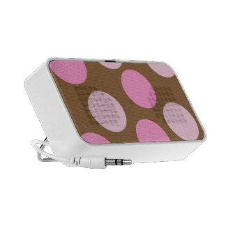 Retro Pink Polka Dots iPhone 3G Case Mini Speaker