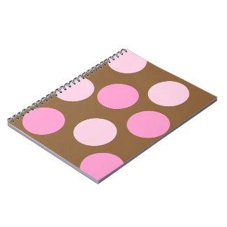 Retro Pink Polka Dots notebook