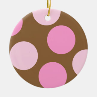 Retro Pink Polka Dots Ornament