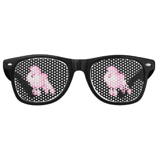 Retro Pink Poodle Party Shades With Black Frames