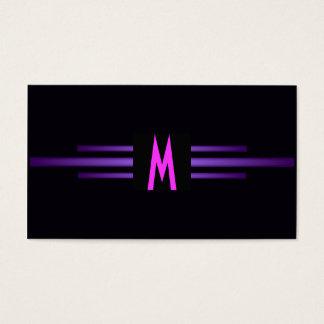 Retro Pink Purple Modern Monogram /House-of-Grosch Business Card
