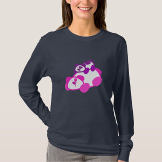 Retro Pink & Purple Panda & Cub T-Shirt