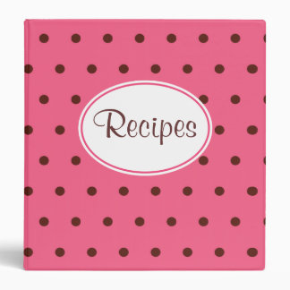 Retro Pink Recipe Binder