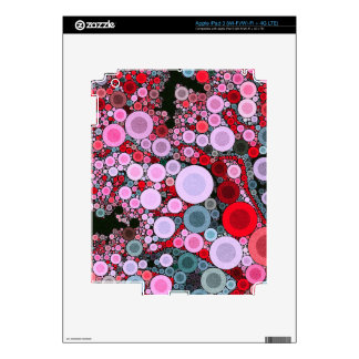 Retro Pink Red Polka-dot Skins For iPad 3