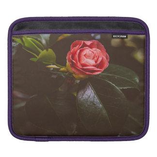 Retro Pink Rose Photograph, Romantic, Elegant iPad Sleeve