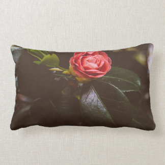 Retro Pink Rose Photograph, Romantic, Elegant Lumbar Pillow